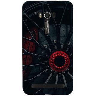Snapdilla Black Background Stylish Modern Sports Race Car Wheel Designer Case For Asus Zenfone Go ZC500TG