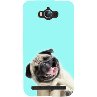 Snapdilla Blue Color Background Funny Cute Laughing Hutch Puppy Dog Cell Cover For Asus Zenfone Max ZC550KL :: Asus Zenfone Max ZC550KL 2016 :: Asus Zenfone Max ZC550KL 6A076IN