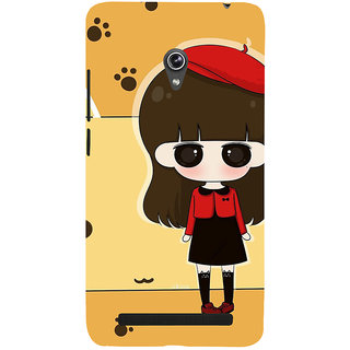 Snapdilla Yellow Background Cartoon Clipart Cute Girl Superb Designer Case For Asus Zenfone 6 A600CG