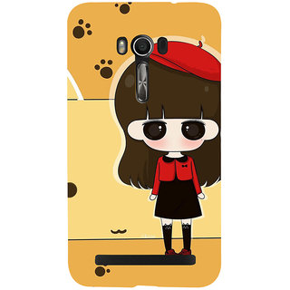 Snapdilla Yellow Background Cartoon Clipart Cute Girl Superb Designer Case For Asus Zenfone Go ZC500TG