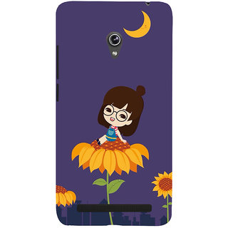 Snapdilla Purple Background Beautiful Girl Cartoon Smartphone Case For Asus Zenfone 6 A600CG