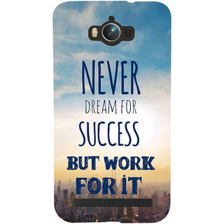 Snapdilla Awesome Life Quote On Success Theme Perfect Mobile Pouch For Asus Zenfone Max ZC550KL :: Asus Zenfone Max ZC550KL 2016 :: Asus Zenfone Max ZC550KL 6A076IN