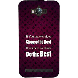 Snapdilla Motivational Do The Best Revival Quote Cool Gift For Best Friend Vibrant 3D Print Cover For Asus Zenfone Max ZC550KL :: Asus Zenfone Max ZC550KL 2016 :: Asus Zenfone Max ZC550KL 6A076IN