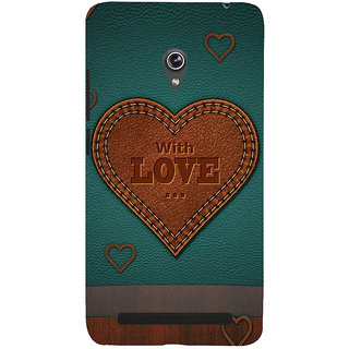 Snapdilla Classic Leather Pattern With Love Quote Best Wishes For Loved Ones Mobile Cover For Asus Zenfone 6 A600CG