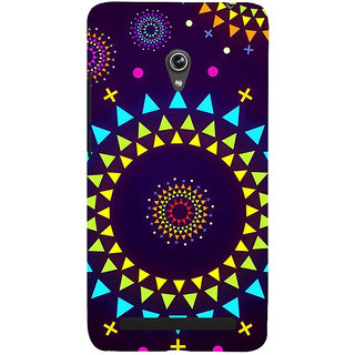 Snapdilla Blue Background Artistic Modern Art Cool Rangoli Pattern Unique Cell Cover For Asus Zenfone 6 A600CG