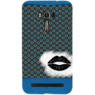 Snapdilla Black Color Background Simple Dot Pattern Crazy Lips Wonderful Designer Case For Asus Zenfone Go ZC500TG