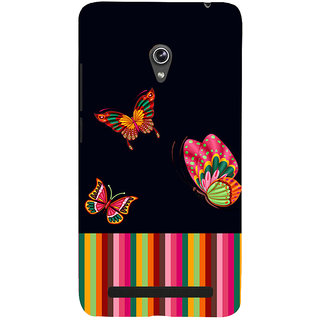 Snapdilla Multi Color Stripes Awesome Colorful Butterflies Trendy Fashion Cell Cover For Asus Zenfone 6 A600CG