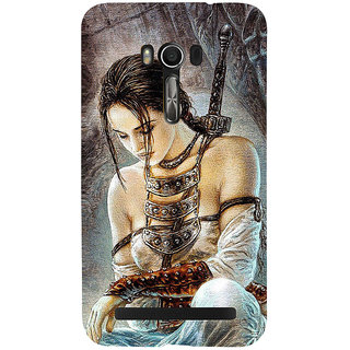 Snapdilla Creative Sexy Vintage Chinese Warrior Samurai Style Perfect Mobile Pouch For Asus Zenfone Go ZC500TG