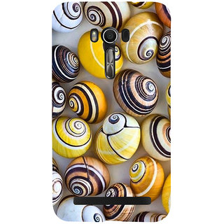 Snapdilla Artistic Modern Art Colourful Snail Shell Pattern Beach Cell Cover For Asus Zenfone Go ZC500TG