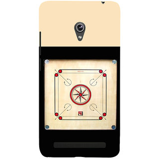 Snapdilla Indoor Carrom Game Lovers Light Background Simple Looking Mobile Cover For Asus Zenfone 6 A600CG