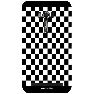 Snapdilla Cool Looking Chess Checks Pattern Impressive Mobile Cover For Asus Zenfone Go ZC500TG