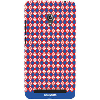 Snapdilla Cool Looking Stylish Anchor Locks Checks Pattern Multi Color Beautiful Designer Case For Asus Zenfone 6 A600CG