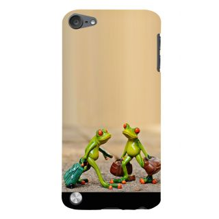 Snapdilla Artistic Crazy Funky Colorful Different Funny Frog Cartoon Smartphone Case For Apple IPod Touch 5