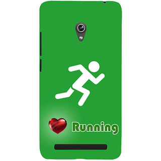 Snapdilla Runner Sign  Traditional Sports Lovers Fitness Freak Cell Cover For Asus Zenfone 6 A600CG
