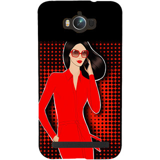 Snapdilla Colorful Pattern Superb Looking Red Hot Sexy Modern Girl Mobile Case For Asus Zenfone Max ZC550KL :: Asus Zenfone Max ZC550KL 2016 :: Asus Zenfone Max ZC550KL 6A076IN