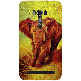 Snapdilla Modern Art Colorful Abstract Elephant Painting Superb Smartphone Case For Asus Zenfone Go ZC500TG