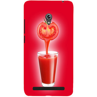 Snapdilla Awesome Red Background Tomato Juice Drink Uique Mobile Cover For Asus Zenfone 6 A600CG