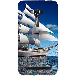 Snapdilla Artistic Clipart Blue Background Titanic Ship Yacht In The Sea Ocean Mobile Pouch For Asus Zenfone Go ZC500TG