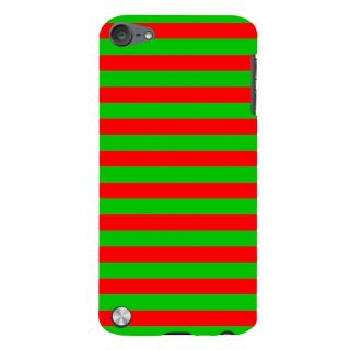 Snapdilla Modern Pattern Red Green Stripes Awesome Perfect Colorful Mobile Pouch For Apple IPod Touch 5