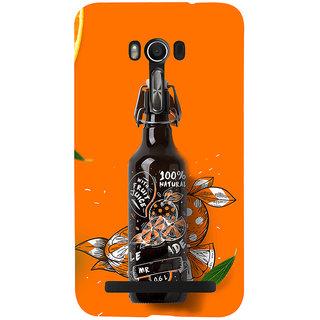 Snapdilla Orange Background 3D Unique Bottle Original Cool Mobile Cover For Asus Zenfone Go ZC500TG