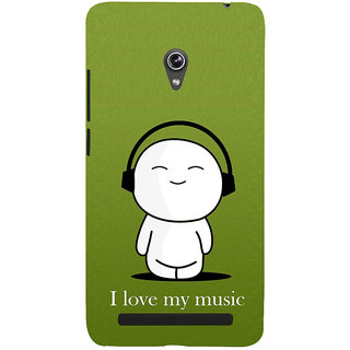 Snapdilla Funny Clipart Cartoon Love Dj Music Beat Headphone Designer Case For Asus Zenfone 6 A600CG
