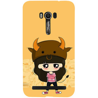 Snapdilla Artistic Animated Clipart Cartoon Monster Girl Doodle Modern Art Mobile Case For Asus Zenfone Go ZC500TG