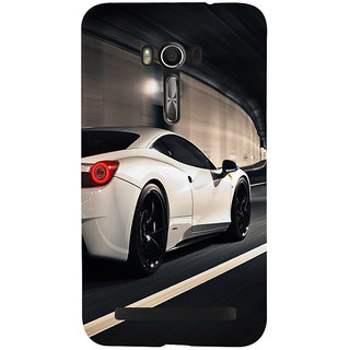 Snapdilla Lovely Fast And Furious Best White Sports Classic Racing Car Back Cover For Asus Zenfone Go ZC500TG