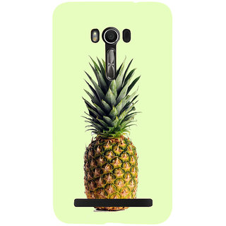 Snapdilla Light Green Background Awesome Different Cool Pineapple Fruit Lovers 3D Print Cover For Asus Zenfone Go ZC500TG