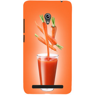 Snapdilla Different Unique Good Looking  Red Colour Background Carrot Juice Branded Phone Case For Asus Zenfone 6 A600CG