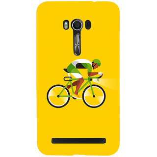 Snapdilla Yellow Background Bicycle Ride Simple Unique Different Cell Cover For Asus Zenfone Go ZC500TG