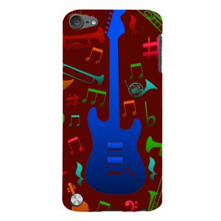 Snapdilla Brown Background Rock Star Acoustic Guitar Musical Chord Notes Smartphone Case For Apple IPod Touch 5