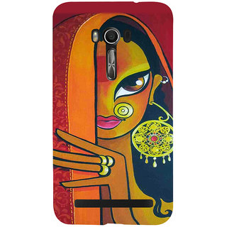 Snapdilla Artistic Modern Art Colorful Traditional Bengali Beautiful Woman Back Cover For Asus Zenfone Go ZC500TG