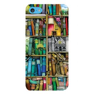 Snapdilla Multi Colour Lovely Modern Art Book Shelf Abstract Painting 3D Print Cover For Apple IPod Touch 6