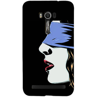 Snapdilla Black Background Classic Modern Art Blind Folded Sexy Hot Girl Creative Mobile Case For Asus Zenfone Go ZC500TG
