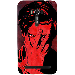 Snapdilla Unique Artistic Gentleman Attitude Man Covering Face Red Texture Phone Case For Asus Zenfone Go ZC500TG
