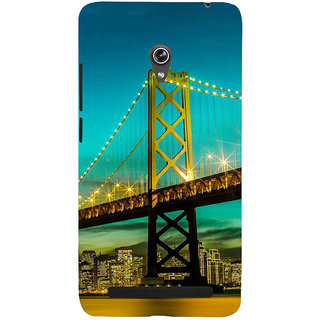 Snapdilla Sparkling San Francisco Golden Gate Bridge Night Life Engineering Architecture Phone Case For Asus Zenfone 6 A600CG
