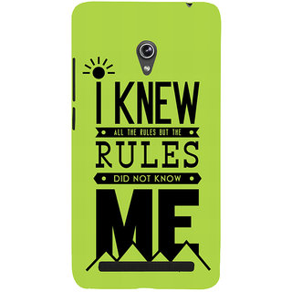 Snapdilla I Knew All The Rules Funny Crazy College Student Feelings Quote Smartphone Case For Asus Zenfone 6 A600CG