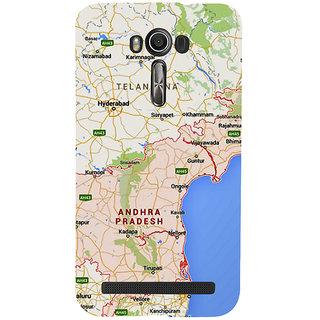 Snapdilla Andhra Pradesh Telangana Hyderabad Coastal Google Map Designer Case For Asus Zenfone 2 Laser ZE601KL