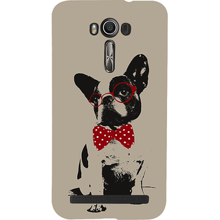 Snapdilla Crazy Cute Looking Unique Light Background Dog Sketch 3D Print Cover For Asus Zenfone 2 Laser ZE601KL