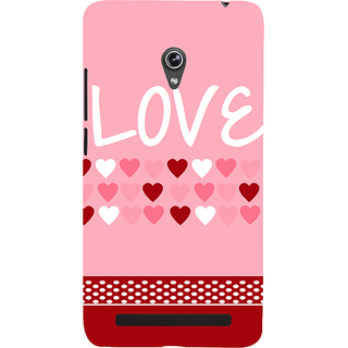 Snapdilla Baby Pink Background Cute Little Hearts Pattern Lovely Superb Cell Cover For Asus Zenfone 6 A600CG