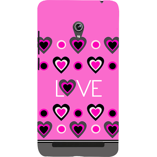 Snapdilla Artistic Clipart Cute Little Pink Hearts Simple Cute Lovers 3D Print Cover For Asus Zenfone 6 A600CG