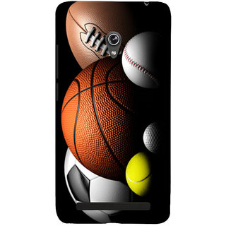 Snapdilla Multi Color Football Basketball Volleyball Rugby Tennis Golf Sports Ball Mobile Cover For Asus Zenfone 6 A600CG