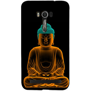Snapdilla Good Looking Golden Gautam Buddha Meditation Painting Peaceful Pleasant Cell Cover For Asus Zenfone Go ZC500TG