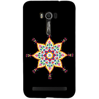 Snapdilla Artistic Floral Rangoli Omkarm Black Background Stylish Colorful Mobile Pouch For Asus Zenfone Go ZC500TG
