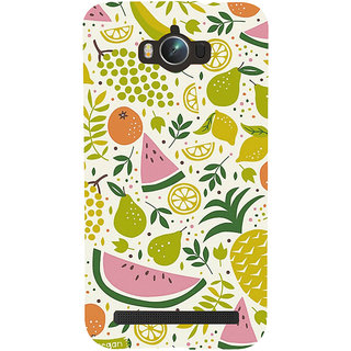 Snapdilla Artistic White Background Mixed Fruit Pattern Colorful Mobile Cover For Asus Zenfone Max ZC550KL :: Asus Zenfone Max ZC550KL 2016 :: Asus Zenfone Max ZC550KL 6A076IN