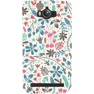 Snapdilla Artistic White Background Floral Pattern Modern Art Trendy Designer Case For Asus Zenfone Max ZC550KL :: Asus Zenfone Max ZC550KL 2016 :: Asus Zenfone Max ZC550KL 6A076IN
