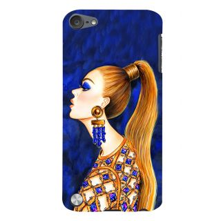 Snapdilla Blue Background Animated Fashion Girl Painting Tendy Phone Case For Apple IPod Touch 5