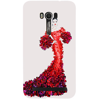 Snapdilla White Background Trendy Fashion Girl Model Vogue Back Cover For Asus Zenfone Go ZC500TG