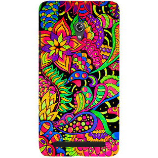 Snapdilla Artistic Rangoli Pattern Stylish Multi Color Beautiful Cell Cover For Asus Zenfone 6 A600CG