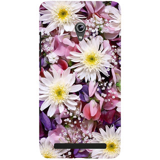 Snapdilla Animated Clipart Colourful Cute Daisy Flower Background 3D Print Cover For Asus Zenfone 6 A600CG